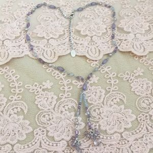 Beautifully Simple Beaded Tassel Necklace